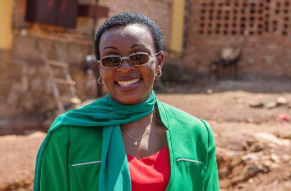 Victoire Ingabire tras su liberación, el 14 de septiembre de 2018