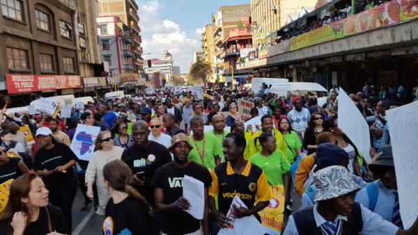 Una marcha contra la xenofobia en Johannesburgo, Sudáfrica, en 2015. Foto: Dyltong/Wikipedia.