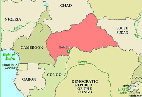 Ubicacion de la República Centroafricana. Foto: Kimpa Vita Press & Publishers.