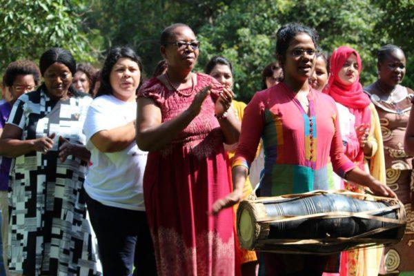 La Ceremonia Mística durante el evento. Foto: Vyshakh T/ PeoplesDispatch.