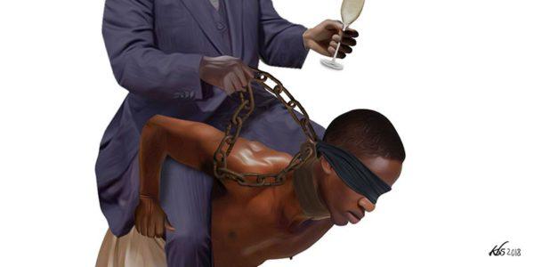 Ilustración sobre la esclavitud. Imagen: Theelephant.info.