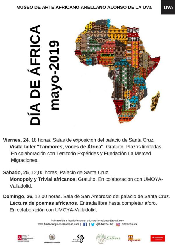 Cartel de la celebración del Día de África en Valladolid.