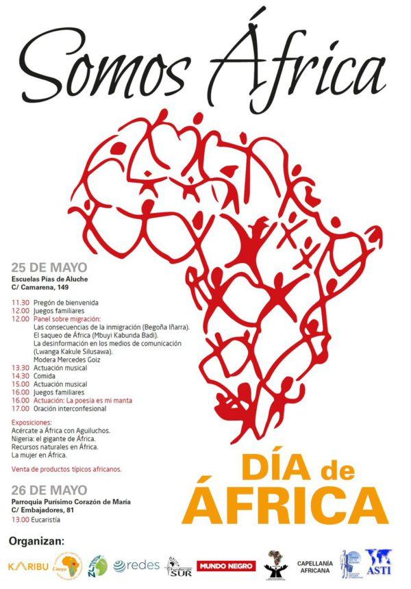 Cartel de la celebración del Día de África en Madrid.