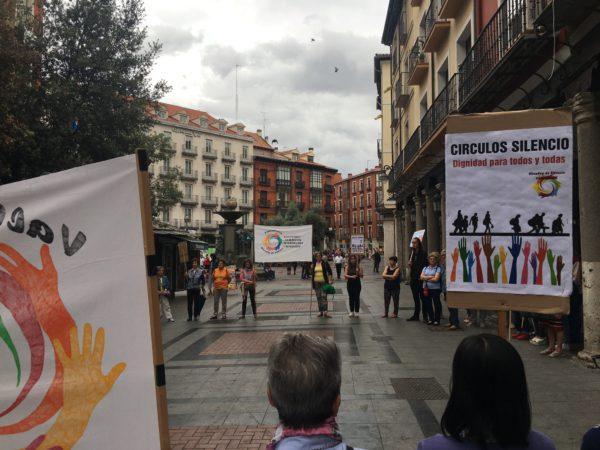 Concentración de los Círculos de Silencio de Valladolid, junio de 2019. Foto: Raquel Estacio.
