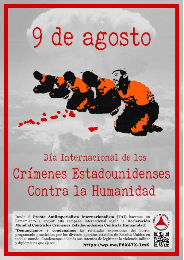 Cartel de la campaña de llamamiento del FAI. Foto: FAI.