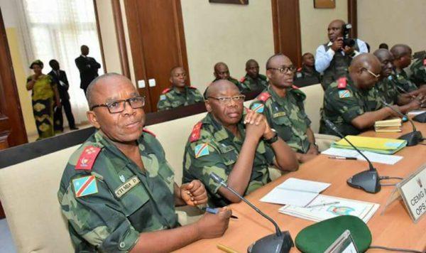 Reunión del Alto Comité Militar de las FARDC, enero de 2017. Foto: DESC-WONDO.