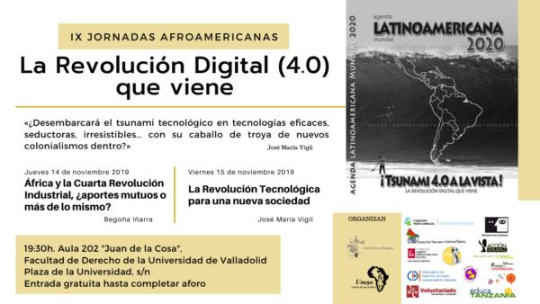 Cartel de las IX Jornadas Afroamericanas- la revolución digital (4.0) que viene. Foto: Umoya.