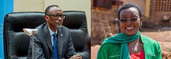 Paul Kagame y Victoire Ingabire. Foto: San Francisco Bay View.