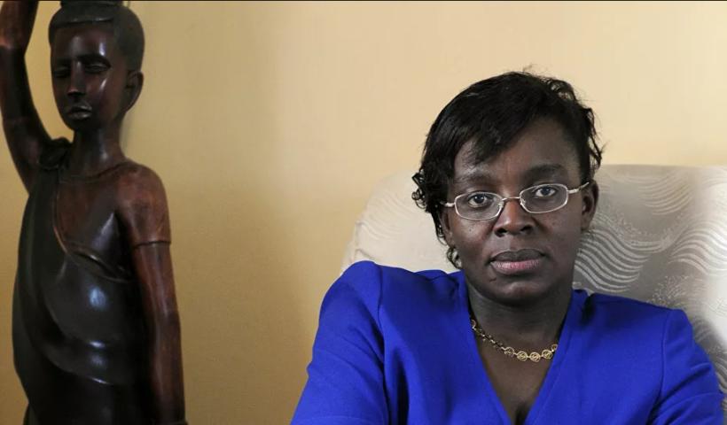 Victoire Ingabire, durante una entrevista realizada en 2012. Foto: AFP - Bertrand guay (recuperada por Sputnik News).